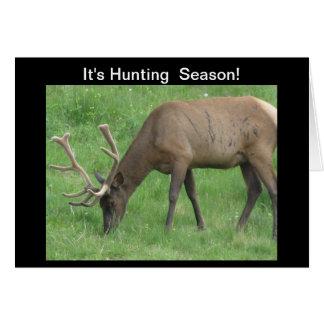 It's Hunting Season Elk Card