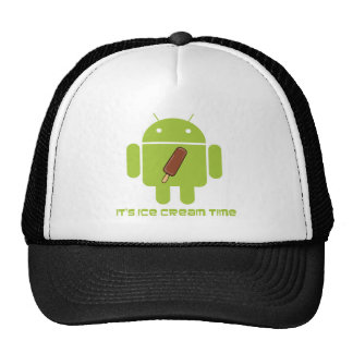 It's Ice Cream Time Bug Droid Chocolate Ice Cream Mesh Hat