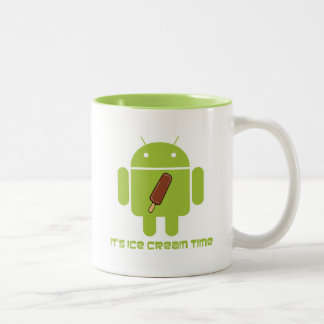 It's Ice Cream Time Bug Droid Chocolate Ice Cream Mug
