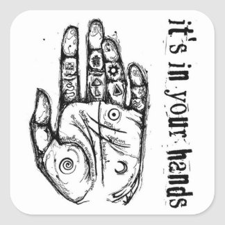 It's in your hands sticker