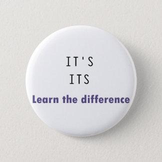 It's Its Grammar 6 Cm Round Badge