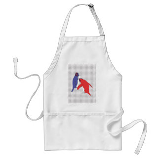 It's Just Blue and Red Standard Apron