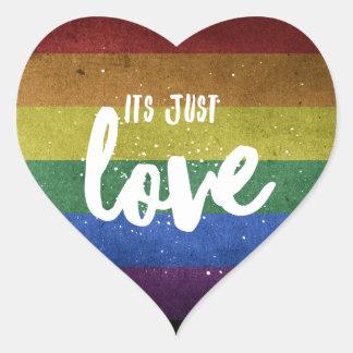 Its just Love - sticker heart