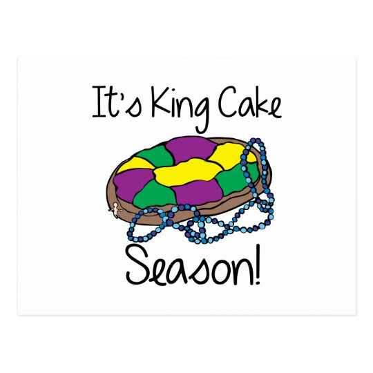 Its King Cake Postcard