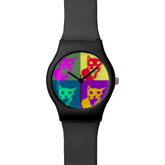 It's Lance's pop-art on a funky watch! Watch