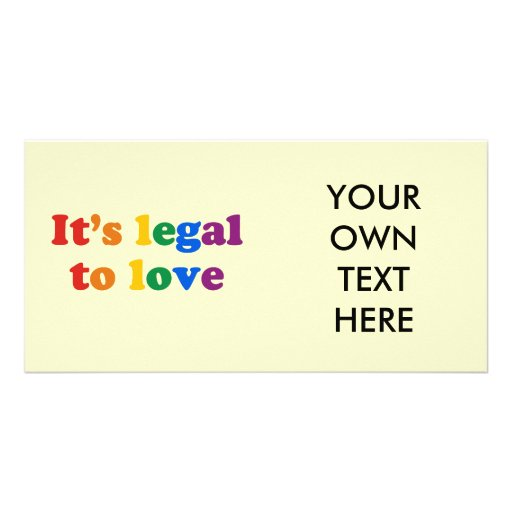 It's legal to love personalized photo card