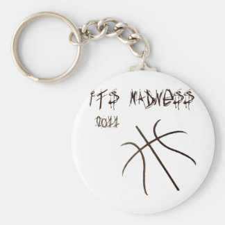 It's Madness Basic Round Button Key Ring