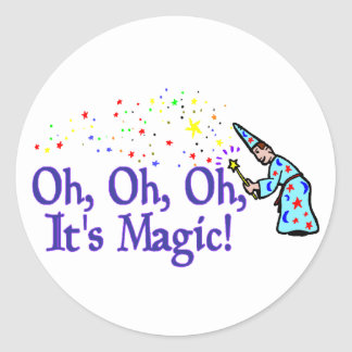 It's Magic Classic Round Sticker