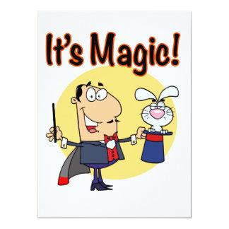its magic silly magician 17 cm x 22 cm invitation card