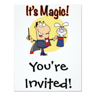 its magic silly magician 11 cm x 14 cm invitation card