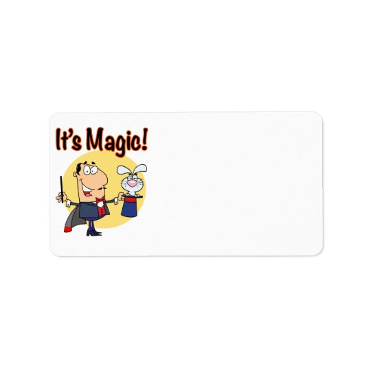 its magic silly magician label
