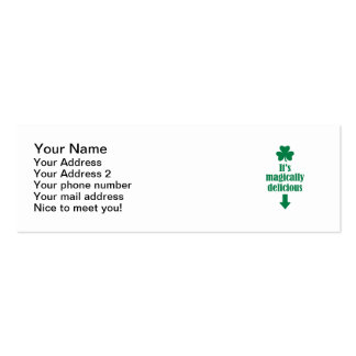 It's magically delicious shamrock business cards
