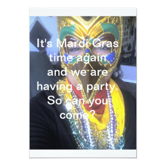It's Mardi Gras Time Again   Invitation