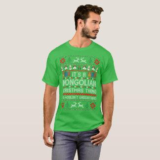 Its Mongolian Christmas Thing Ugly Sweater Tshirt