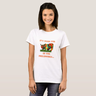 It's more FUN in the Philippines, Colorful carabao T-Shirt