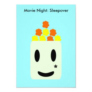 It's Movie Night All Night: Sleepover 13 Cm X 18 Cm Invitation Card