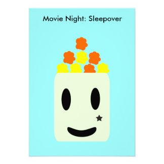 It's Movie Night All Night: Sleepover Personalized Invites