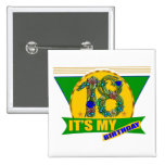 Its My 18th Birthday Gifts 15 Cm Square Badge