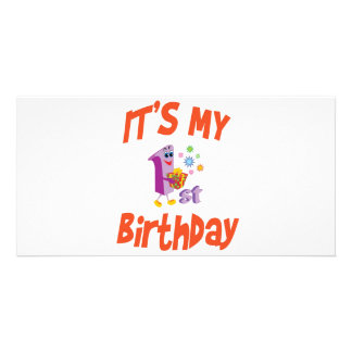 IT'S MY 1ST BIRTHDAY PICTURE CARD