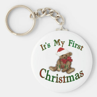Its My 1st Christmas Basic Round Button Key Ring