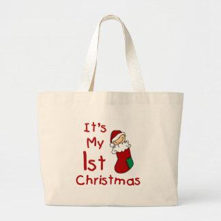 It's My 1st Christmas  Jumbo Tote Bag
