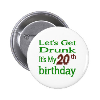 It's My 20th Birthday 6 Cm Round Badge