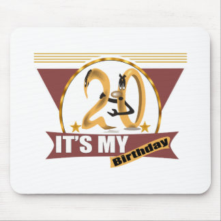 It's My 20th Birthday Gifts Mousepads