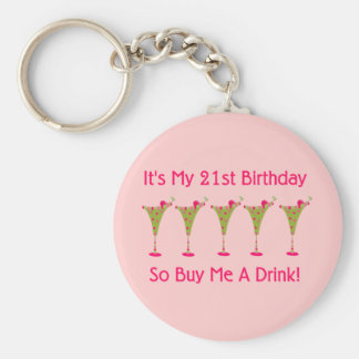 It's My 21st Birthday Basic Round Button Key Ring