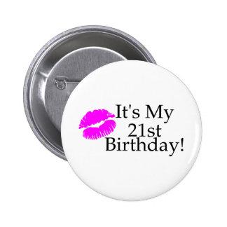 Its My 21st Birthday (Kiss) 6 Cm Round Badge