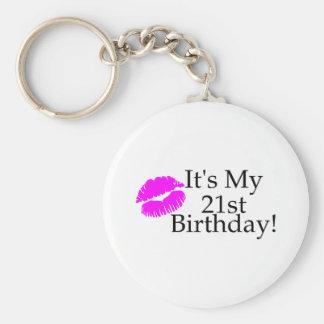 Its My 21st Birthday (Kiss) Basic Round Button Key Ring