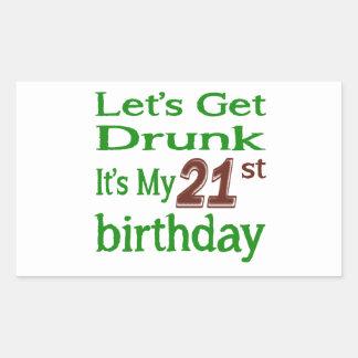 It's My 21st Birthday Rectangular Sticker