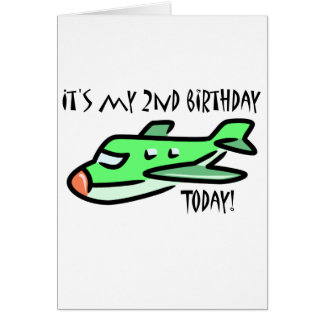 It's My 2nd Birthday Today Greeting Card