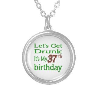It's My 37th Birthday Round Pendant Necklace