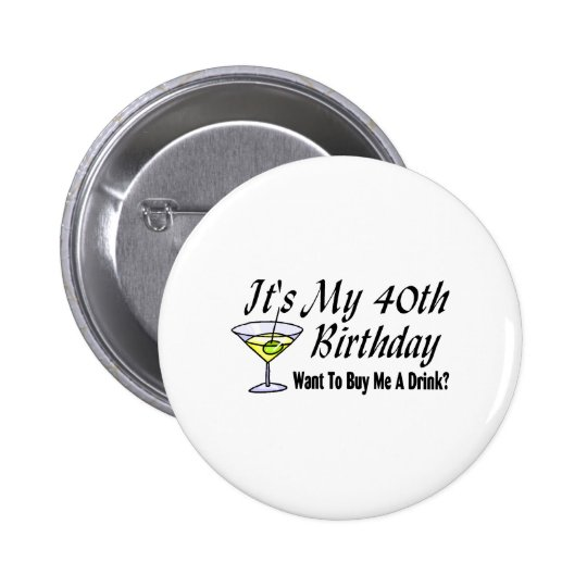 It's My 40th Birthday 6 Cm Round Badge