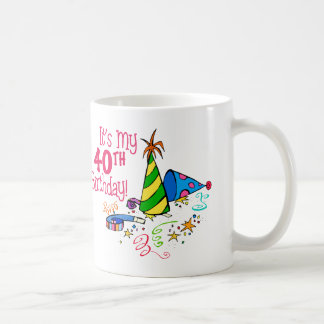 It's My 40th Birthday (Party Hats) Mugs