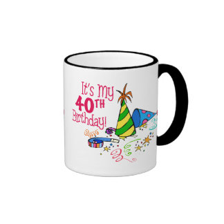 It's My 40th Birthday (Party Hats) Coffee Mugs