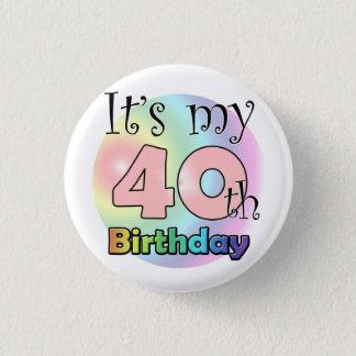 It's my 40th Birthday (wink) 3 Cm Round Badge