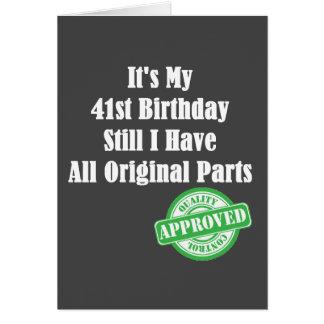 It's My 41st Birthday Card