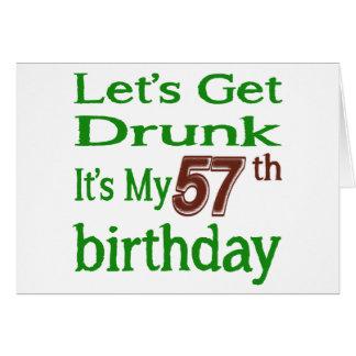 It's My 57th Birthday Greeting Card