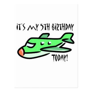 It's My 5th Birthday Today Postcard