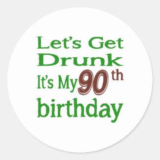 It's My 90th Birthday Round Sticker