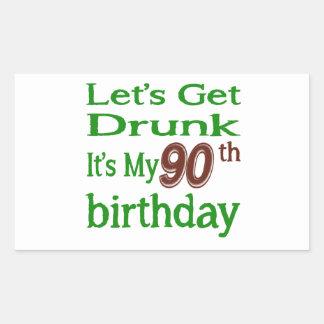 It's My 90th Birthday Rectangular Sticker