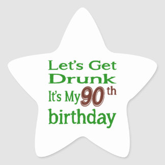 It's My 90th Birthday Star Sticker