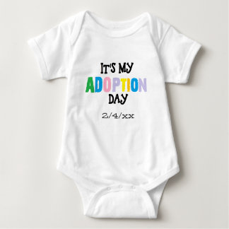 Its my adoption day by ozias baby bodysuit