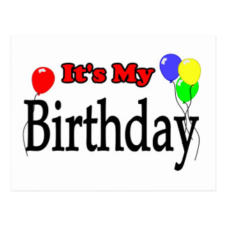 It's My Birthday Balloons Postcard