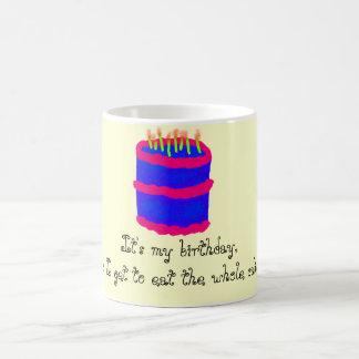 It's my birthday!/Cake Basic White Mug