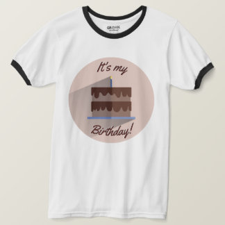 It's My Birthday Shirt Custom Chocolate Brown