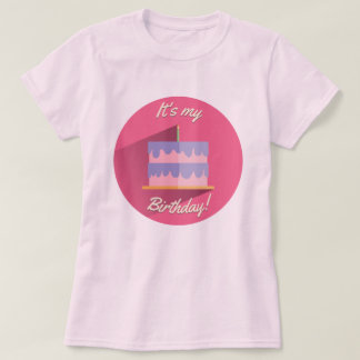 It's My Birthday Shirt Pink & Purple Custom