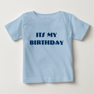 Its My Birthday t-Shirt with front and back Text