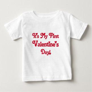It's My First Valentine's Day Baby T-Shirt